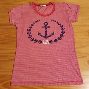 Live Free Anchor T-shirt by Heritage 1981